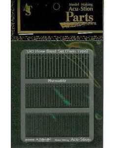 ACUHBTNS43 Acustion 1/43 Hose band set (twin normal silver)