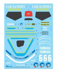 """BS12001 Blue Stuff 1/12 Yamaha FZR750 (OW74) """"Gauloises"""" #6 Bol d'or 1985"""