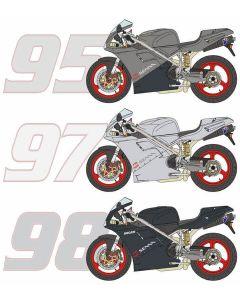 BS12011 Blue Stuff 1/12 Ducati 916 Senna 1995/1997/1998 transkit