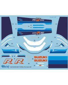 BS12024 Blue Stuff 1/12 Suzuki GSX-R750 White and Blue (Export) 1986