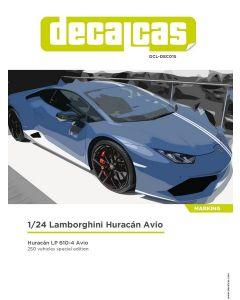 DCLDEC015 Decalcas 1/24 Lamborghini Huracán LP 610-4 Avio