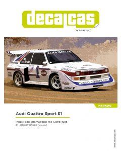 DCLDEC020 Decalcas 1/24 Audi Quattro Sport S1 #1 Pikes Peak Climb Hill Race 1986