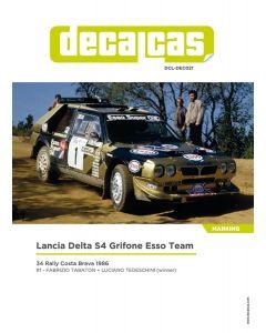 """DCLDEC021 Decalcas 1/24 Lancia Delta S4 """"Grifone Esso"""" #1 Costa Brava Rally 1986"""
