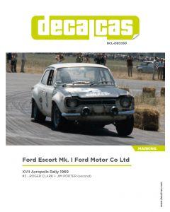 DCLDEC030 Decalcas 1/24 Ford Escort RS1600 Mk I #3 Acropolis 1969