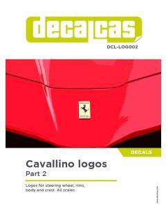 DCLLOG002 Decalcas Ferrari logos (Part 2)