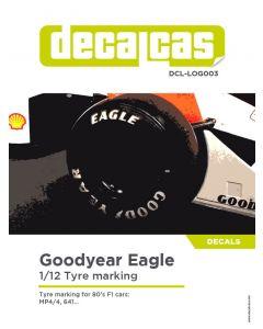 DCLLOG003 Decalcas 1/12 Goodyear Eagle logos