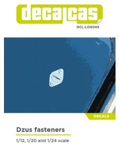DCLLOG005 Decalcas Dzus fasteners decals
