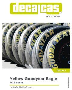 DCLLOG006 Decalcas 1/12 Goodyear Eagle yellow logos