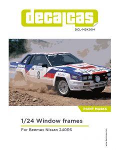 DCLMSK004 Decalcas 1/24 Nissan 240RS windows frames mask