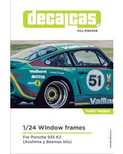 DCLMSK006 Decalcas 1/24 Porsche Kremer 935 K2 windows frames mask