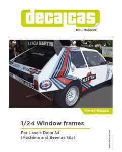 DCLMSK008 Decalcas 1/24 Lancia Delta S4 windows frames mask