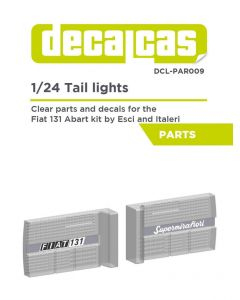 DCLPAR009 Decalcas 1/24 Fiat 131 Abarth tail lights