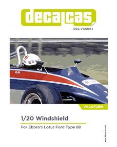 DCLVAC004 Decalcas 1/20 Lotus Type 88 Windshield