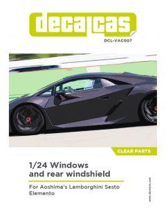 DCLVAC007 Decalcas 1/24 Lamborghini Sesto Elemento Windows and rear windshield