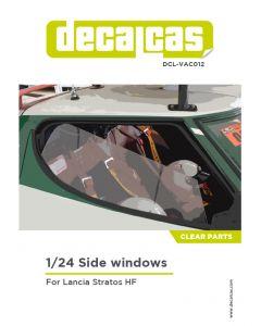 DCLVAC012 Decalcas 1/24 Lancia Stratos HF Side windows