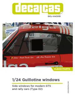 DCLVAC015 Decalcas 1/24 Guillotine windows Type 02