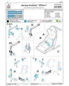 "ED24008 Eduard 1/24 Racing seatbelt ""Willans"" blue"