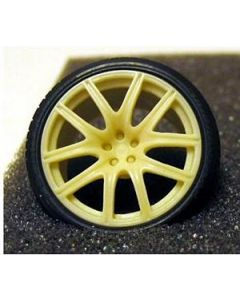 """GW001 GeronimoWorks 1/24 19"""" AME FS-01 resin wheel and tyre set"""