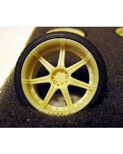 "GW002 GeronimoWorks 1/24 19"" Kyowa KR581 resin wheel and tyre set"