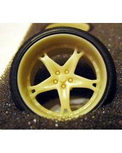"GW004 GeronimoWorks 1/24 19"" Dale E. Jr. Killer resin wheel and tyre set"