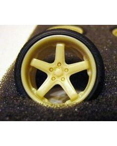 """GW005 GeronimoWorks 1/24 19"""" RacingHart RS721 resin wheel and tyre set"""