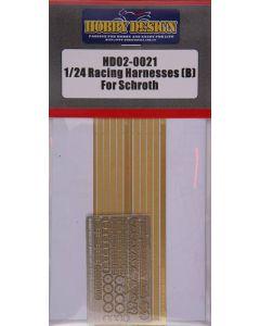 HD020021 Hobby Design 1/24 Racing Harnesses (Schroth)