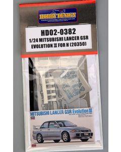 HD020382 Hobby Design 1/24 Mitsubishi Lancer GSR Evolution III detail-up set