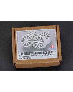 HD030389 Hobby Design 1/18 Forgiato Artigli-ECL Wheels