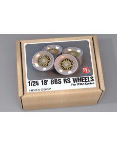 HD030507 Hobby Design 1/24 18inch BBS RS wheels (JDM Sport)