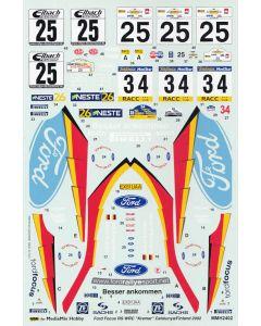 "MMH2402 MediaMix Hobby 1/24 Ford Focus RS WRC ""Kremer"" Catalunya/Acropolis/Finland/Germany 2002"