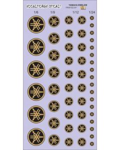 NLD057 Nicolecron Decals Yamaha emblems (gold)