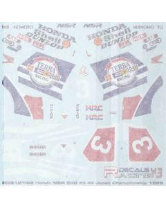 "RDB12002 Racing Decals 43 1/12 Honda NSR500 ""Terra"" #3 All Japan Road Race Championship 1989"