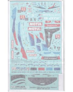 "RDE24045CF Racing Decals 43 1/24 BMW M8 GTE ""Team RLL"" #24 Rolex 24 at Daytona 2021"