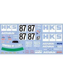 SHKD439 Shunko Models 1/24 HKS Skyline GT-R Gr.A (BNR32) #87 JTC 1992 late season