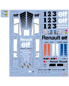 SHKD443 Shunko Models 1/24 Renault Alpine A442A and A443 Works Team Le Mans 1978