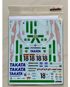 """SK24122 SK Decals 1/24 Mugen Honda NSX """"Dome Racing Team"""" #18 JGTC 1998"""