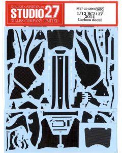 ST27CD12005 Studio 27 1/12 Honda RC213V 2014 carbon decal