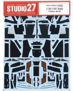 ST27CD20011 Studio 27 1/20 Ferrari 150 Italia carbon decal