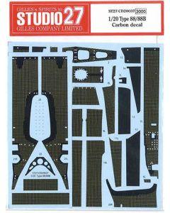 ST27CD20037 Studio 27 1/20 Lotus Type 88/88B carbon decal