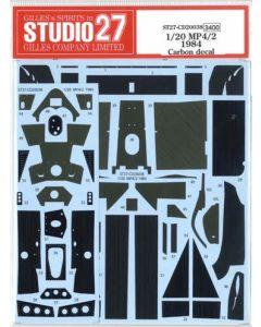 ST27CD20038 Studio 27 1/20 McLaren MP4/2 1984 carbon decal