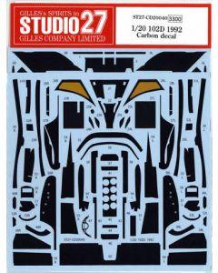 ST27CD20040 Studio 27 1/20 Lotus 102D 1992 carbon decal