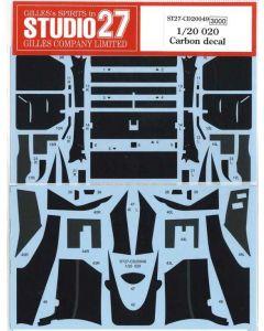 ST27CD20049 Studio 27 1/20 Tyrrell 020 carbon decal