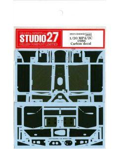 ST27CD20050 Studio 27 1/20 McLaren MP4/2C carbon decal