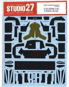 ST27CD24033 Studio 27 1/24 Nissan R390 GT1 carbon decal