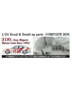"ST27CP24003 Studio 27 1/24 BMW E36 318i ""Team Schnitzer"" #1/#2/#3 Macau Guia Race 1994 detail up set"