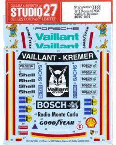 "ST27DC1001 Studio 27 1/12 Porsche 934 RSR ""Vaillant-Kremer"" #6/#7 1976"