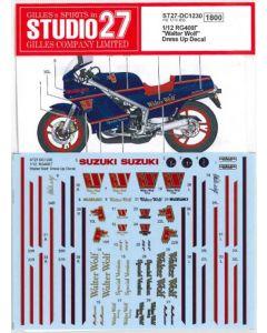 """ST27DC1230 Studio 27 1/12 Suzuki RG400 Gamma """"Walter Wolf"""" Dress Up Decal"""