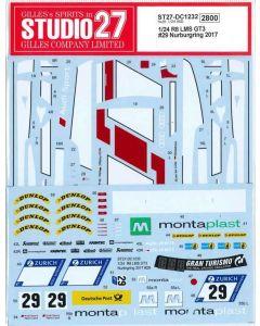 ST27DC1232 Studio 27 1/24 Audi R8 LMS GT3 #29 Nürburgring 2017 winner
