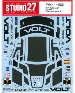 "ST27DC1233 Studio 27 1/24 Ford Mustang GT4 ""VOLT Racing"" #7 IMSA Road America 2018 winner"