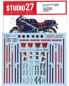 """ST27DC1234 Studio 27 1/12 Suzuki RG400 Gamma """"Walter Wolf"""" Late Version"""